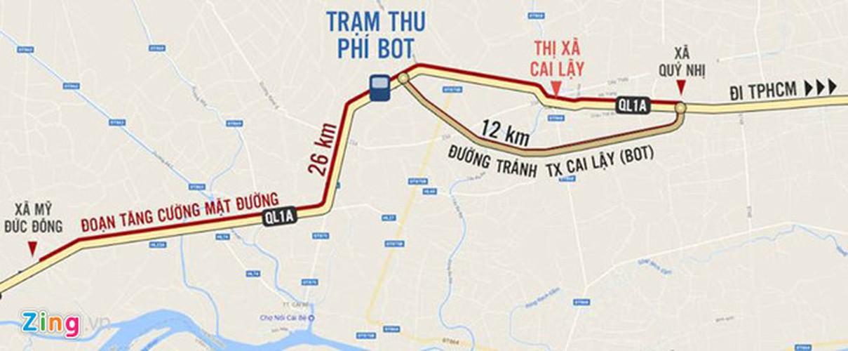 Anh: Hang nghin oto ne tram thu phi Cai Lay