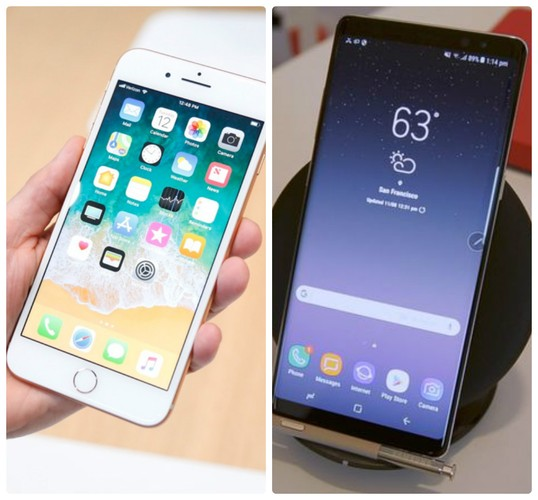 Do gang iPhone 8/8 Plus - Samsung Galaxy Note 8