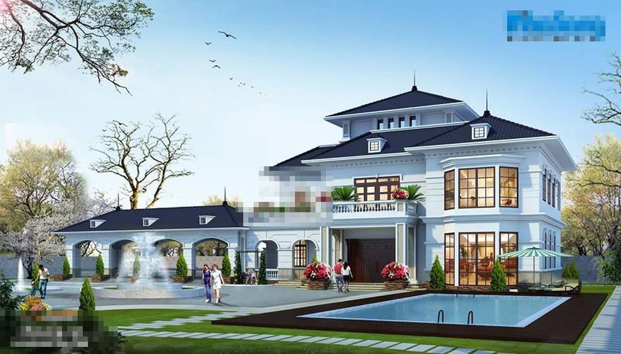 10 mau biet thu kieu Phap len ngoi nam 2018-Hinh-9
