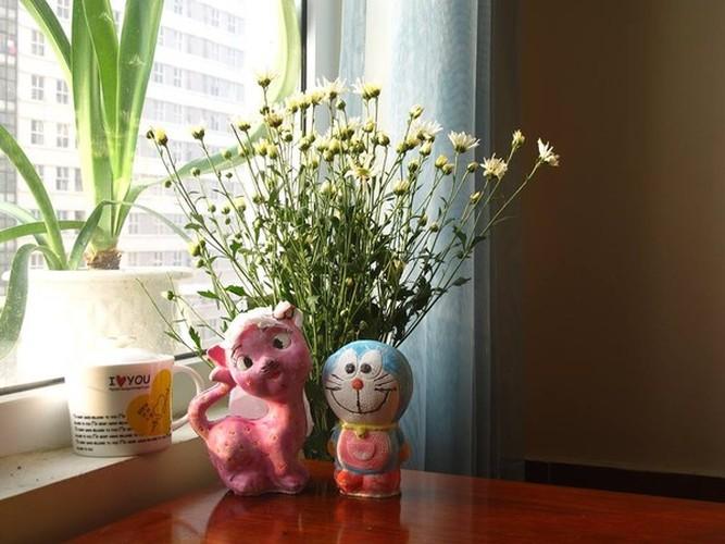Cach trang tri nha dep tinh khoi voi cuc hoa mi