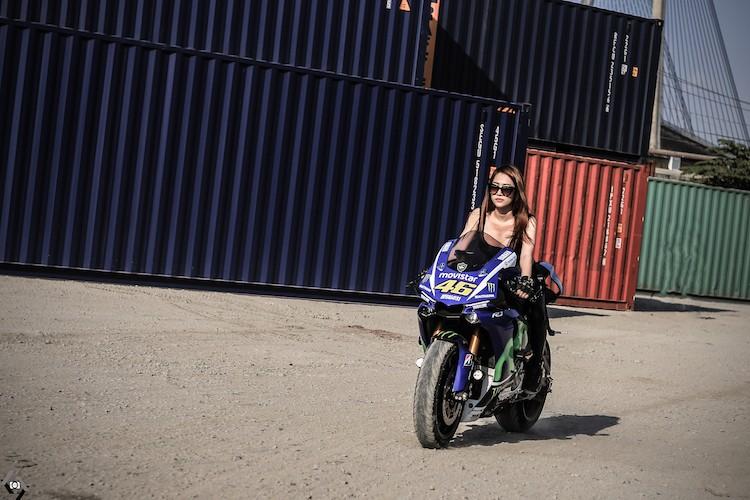 """Nguoi dep Viet """"nai cung"""" sieu moto Yamaha R1-Hinh-7"""