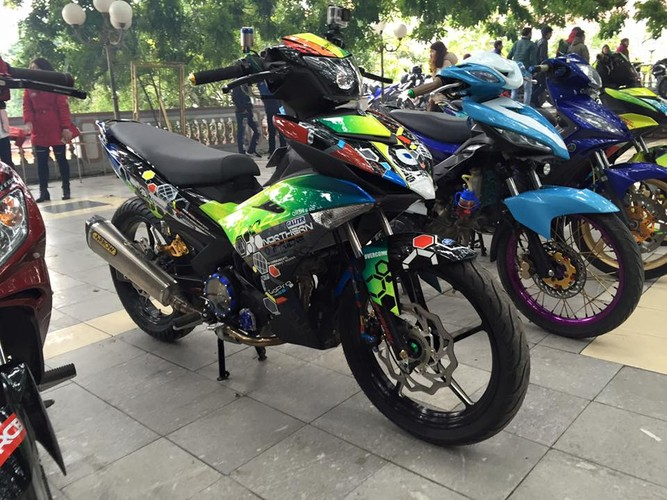 "Yamaha Exciter 150 len do choi ""doc"" cua biker Ha Noi"