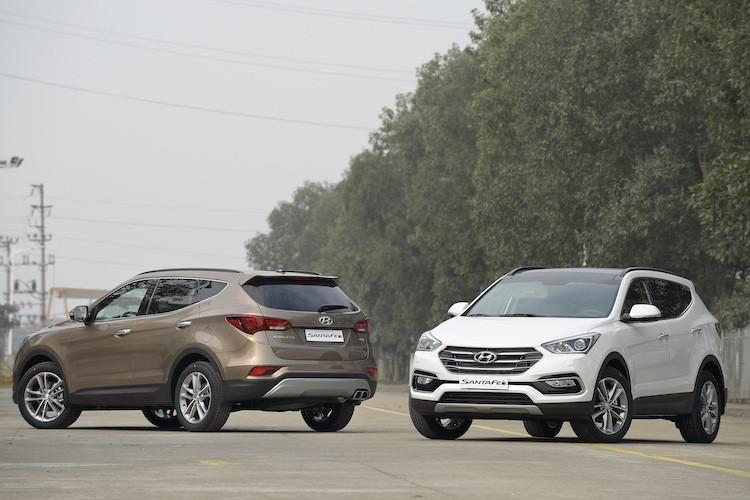 Hyundai SantaFe giam gia ca tram trieu dong tai VN