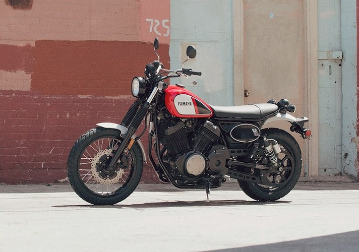 "Yamaha ""nha hang"" moto scrambler hoai co SCR950"