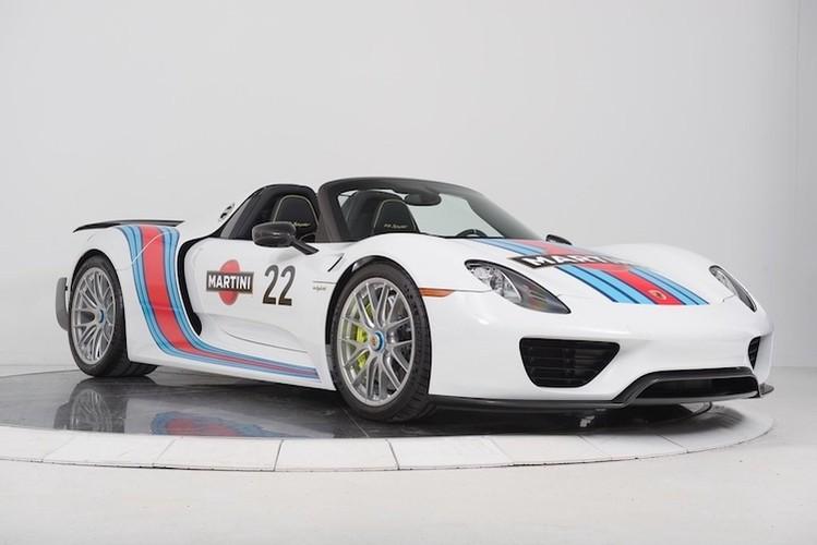 """""""Thuoc doc"""" Porsche 918 Spyder trieu do do tem dau Martini"""