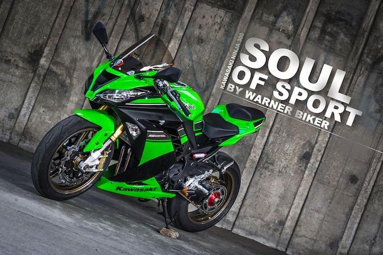 "Sportbike Kawasaki Ninja 300 do superbike ""sieu khung"""