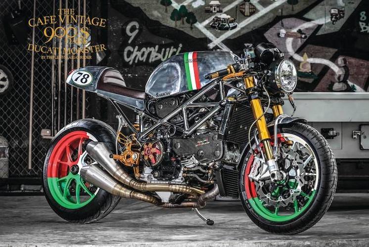 "Soi ""Ly cafe Y"" dam dac tu Ducati Monster 900"