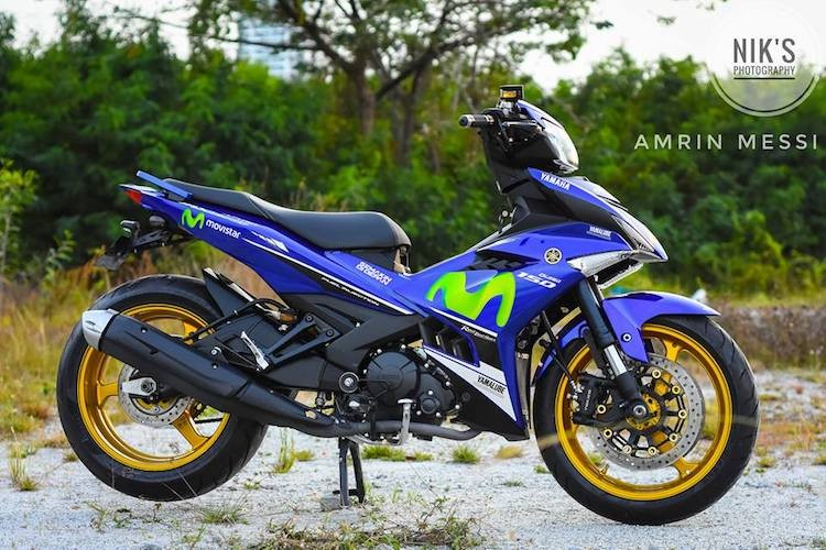 """Yamaha Exciter 150 do """"chan"""" xe doc TZR250 2 ky"""