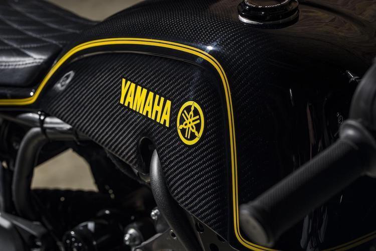 """Yamaha XSR700 cafe racer """"full carbon"""" sieu khung-Hinh-5"""