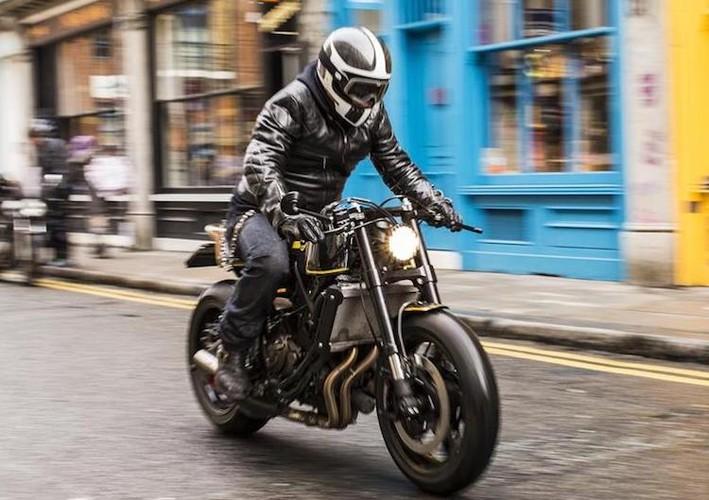 """Yamaha XSR700 cafe racer """"full carbon"""" sieu khung-Hinh-9"""