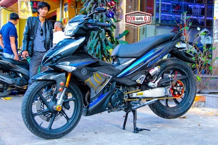 """Yamaha Exciter 150 do carbon gap N """"sieu dep"""" tai VN"""