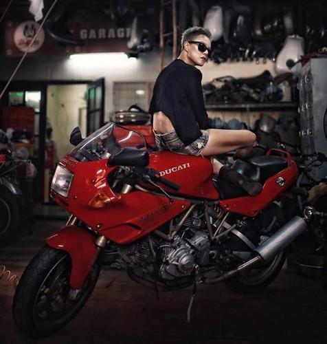 """""""Nu quai"""" Viet sieu ngau ben moto Ducati Supersport 900-Hinh-4"""