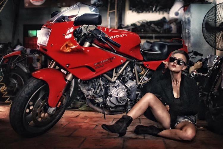 """""""Nu quai"""" Viet sieu ngau ben moto Ducati Supersport 900-Hinh-6"""