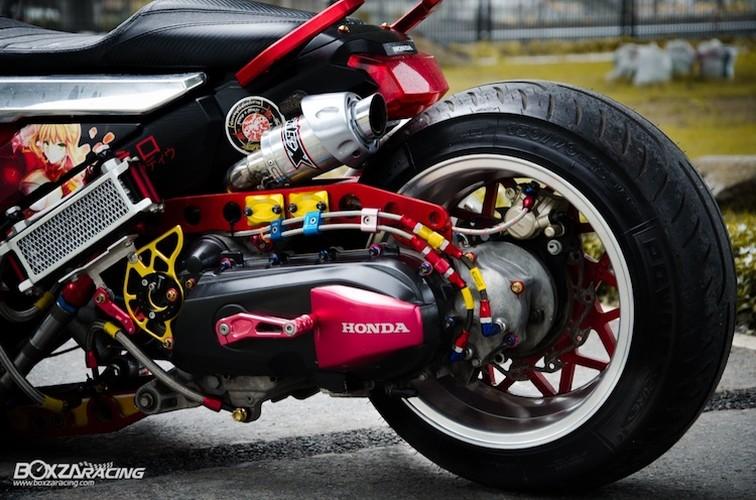 Xe tay ga Honda Zoomer X sieu khung phong cach Nhat-Hinh-6