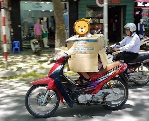 """Nguoi Ha Noi cuoi xe may chong nang 40 do nhu """"Ninja""""-Hinh-5"""