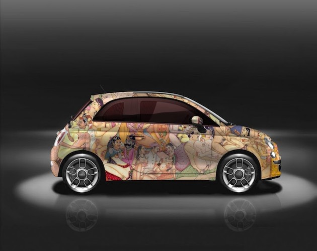 """Do mat"" voi xe oto mini Fiat 500 ve day hinh 18+-Hinh-3"
