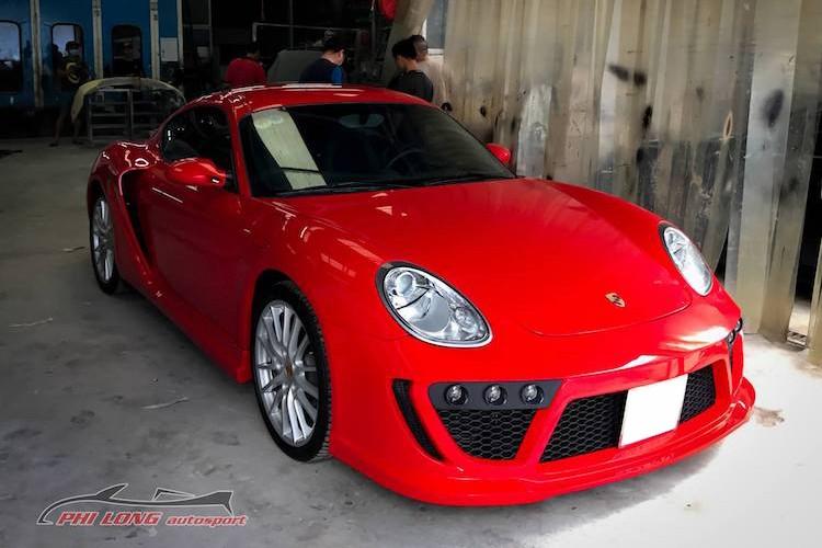 "Tho Viet tu che ""do choi"" cho sieu xe Porsche Cayman"