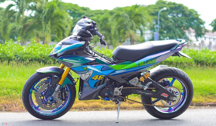 Yamaha Exciter 150 do phu kien moto 1000cc tai Can Tho