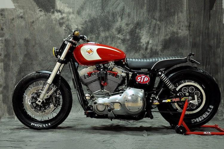 """Harley-Davidson Dyna """"lot xac"""" moto tracker duong pho-Hinh-4"""