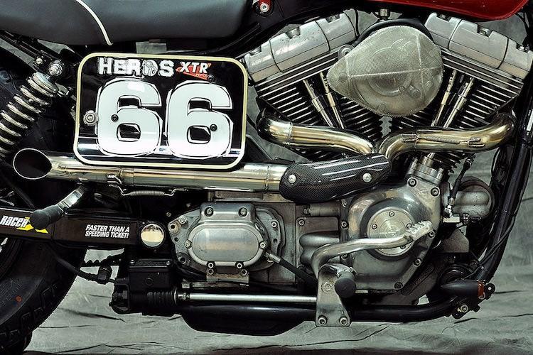 """Harley-Davidson Dyna """"lot xac"""" moto tracker duong pho-Hinh-6"""