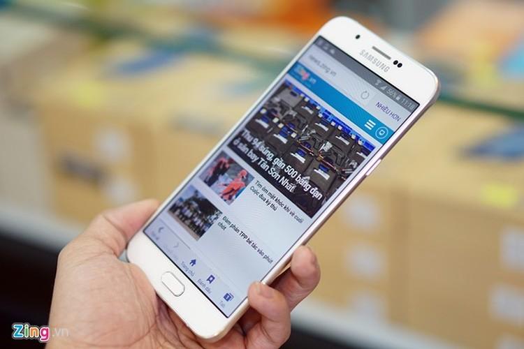 Hinh anh mo hop smartphone Samsung Galaxy A8 sieu mong tuyet dep-Hinh-11