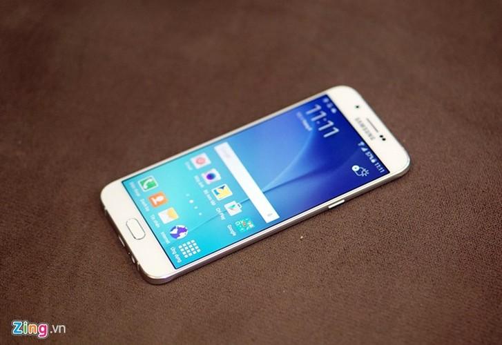 Hinh anh mo hop smartphone Samsung Galaxy A8 sieu mong tuyet dep-Hinh-4