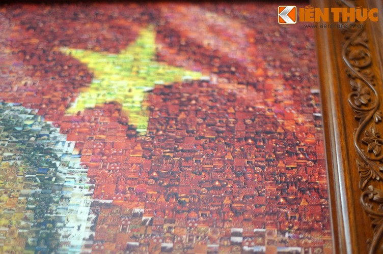 Doc dao buc tranh Bac Ho tu 10.000 manh ghep-Hinh-9