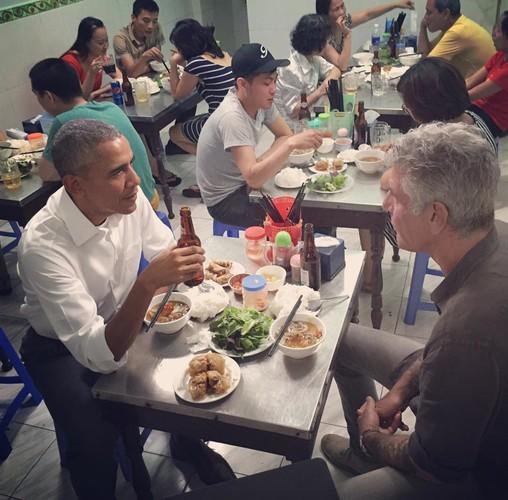 Nhung khoanh khac an uong dang nho nhat cua Tong thong Obama