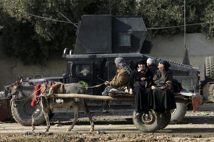 Canh thuong dan Iraq chay khoi chien truong Mosul-Hinh-2