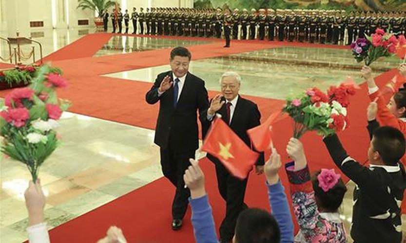Anh: Tong Bi thu Nguyen Phu Trong tham Trung Quoc tren Tan Hoa Xa