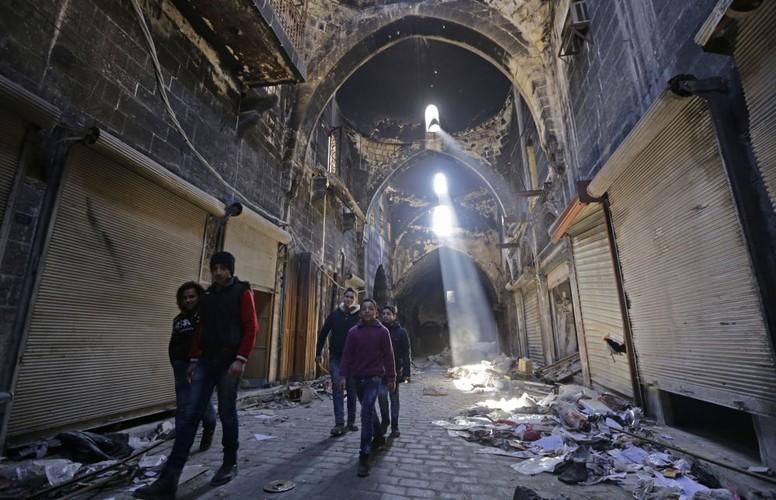 Thanh pho Aleppo binh yen trong do nat qua anh Sputnik-Hinh-10