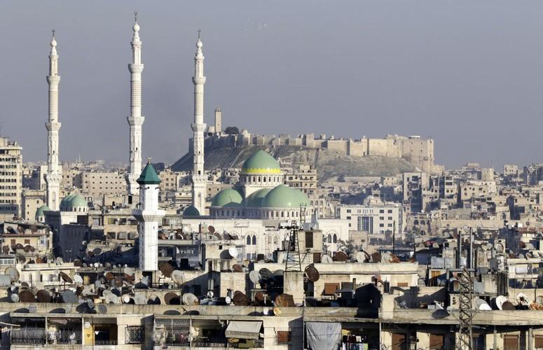 Thanh pho Aleppo binh yen trong do nat qua anh Sputnik