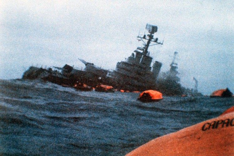 Ve tinh Lien Xo danh chim tau chien Anh trong Chien tranh Falkland