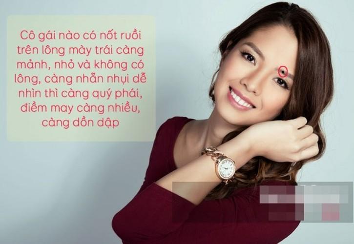 "Nhan dien phu nu vuong phu qua 7 not ruoi ""than thanh"""