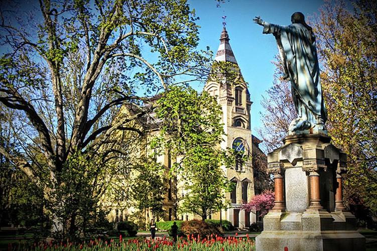 Dam chim ve dep co tich cua dai hoc Notre Dame