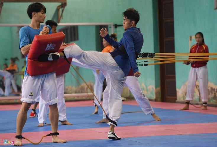 Tuyen taekwondo kho luyen bang dung cu dac biet truoc SEA Games-Hinh-8
