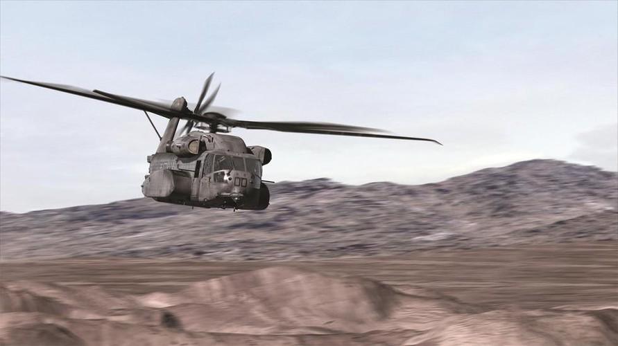 """Truc thang hang nang CH-53 co xung danh """"Taxi bay""""?"""