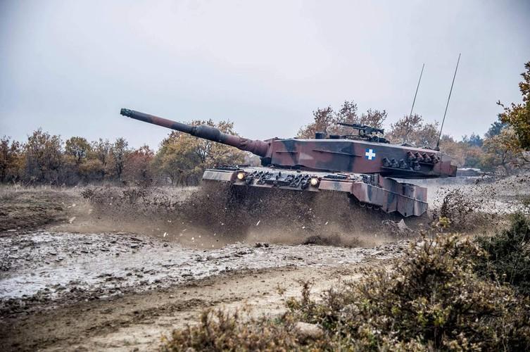Man nhan xe tang Leopard 2A4 phi nuoc dai tren duong lay-Hinh-4