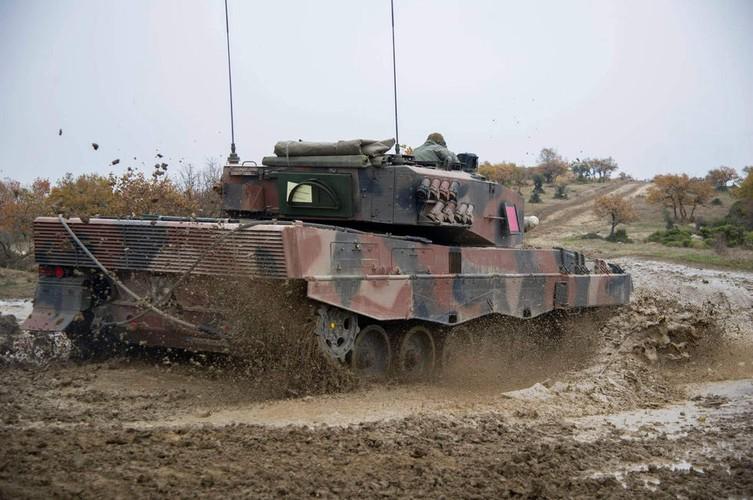 Man nhan xe tang Leopard 2A4 phi nuoc dai tren duong lay-Hinh-8