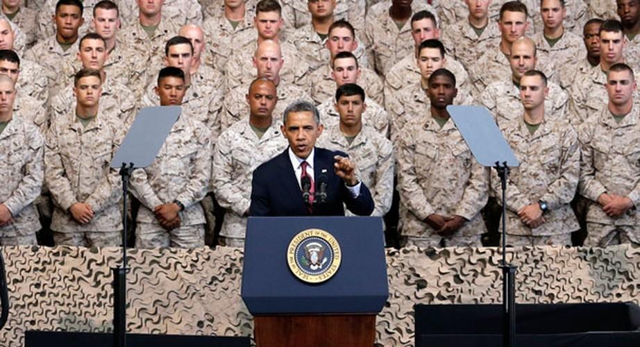 Loat anh kho quen Tong thong Obama voi Quan doi My-Hinh-2