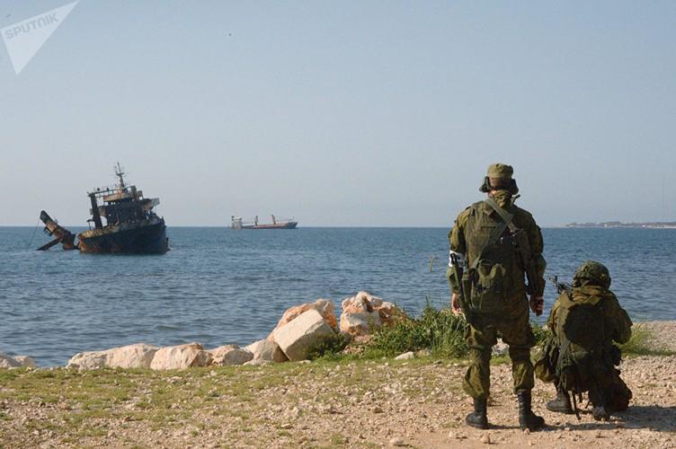 Muc kich Hai quan danh bo Nga-Syria tap tran chung