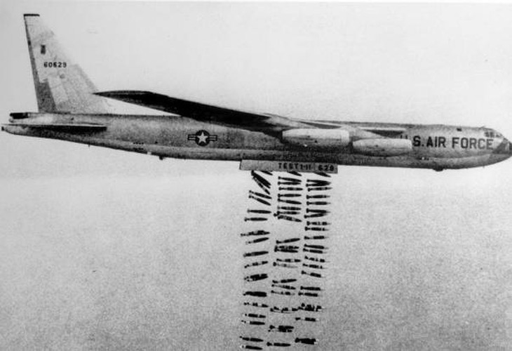 My da nem bao nhieu tan bom trong Chien tranh Viet Nam?