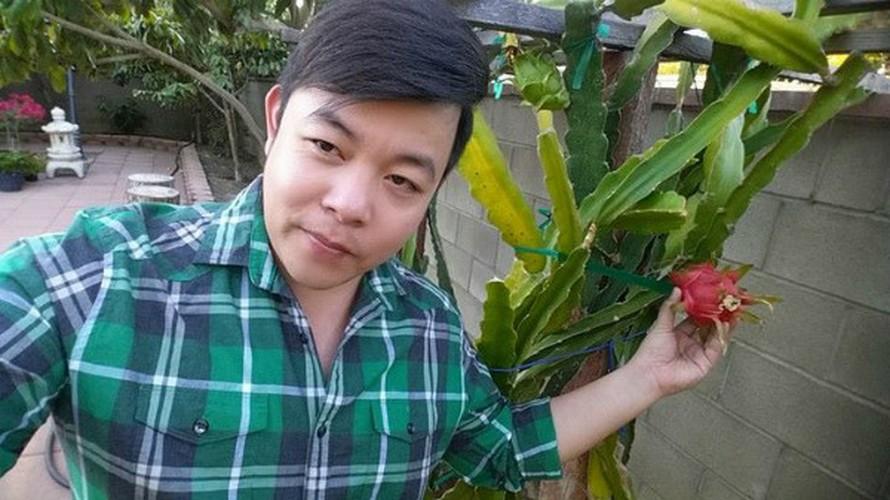 Khu vuon day ap hoa trai trong biet thu cua Thanh Thao, Quang Le o My-Hinh-2