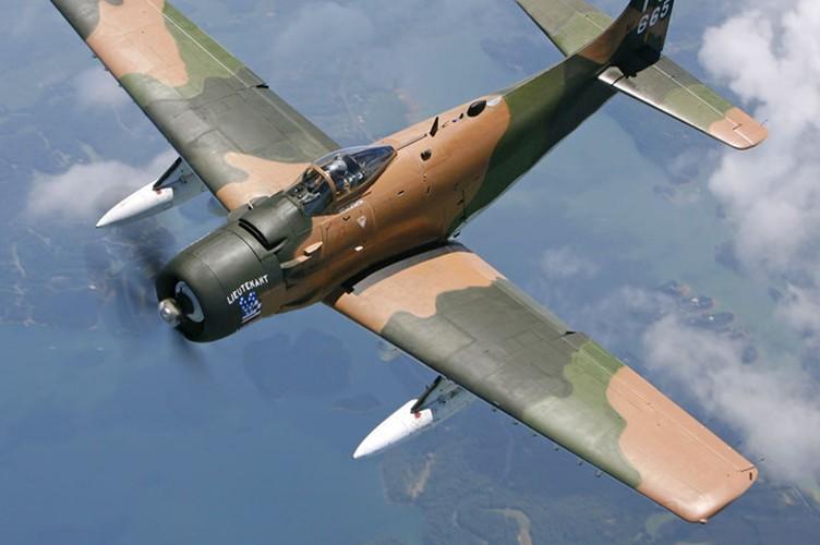 Kham pha cuong kich A-1H Skyraider tung tham chien o Dong Duong-Hinh-3
