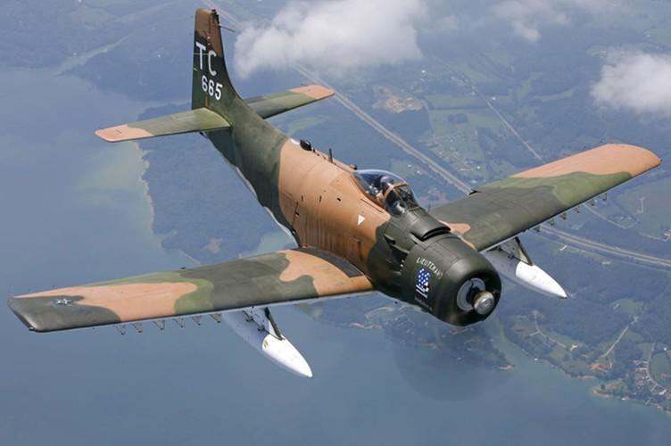 Kham pha cuong kich A-1H Skyraider tung tham chien o Dong Duong