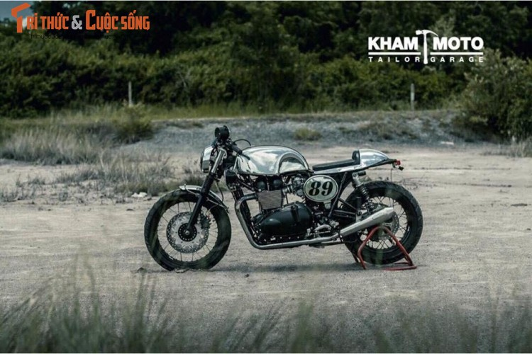 Can canh Triumph Bonneville T100 do cafe racer sieu chat