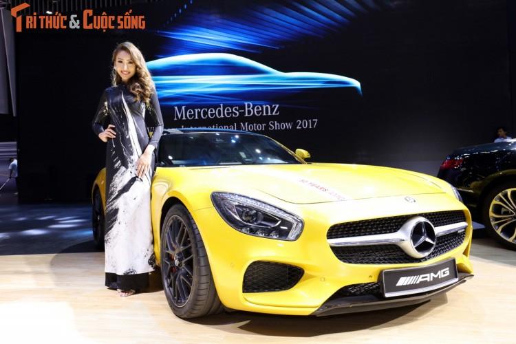 """Soi"" dan xe sang Mercedes-Benz tram ty tai VIMS 2017"