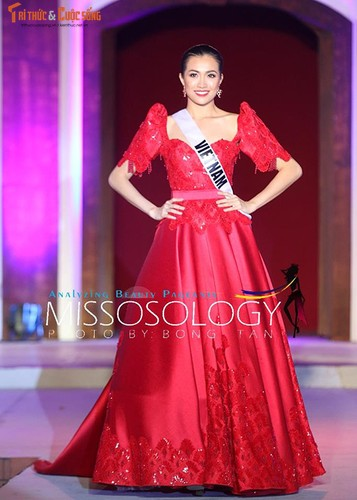 Le Hang tu tin trinh dien thoi trang tai Miss Universe 2016