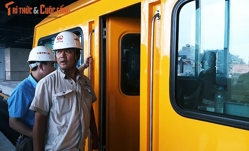 Chum anh: Dau may chay 5-20km/h tren tuyen duong sat Cat Linh-Ha Dong-Hinh-2