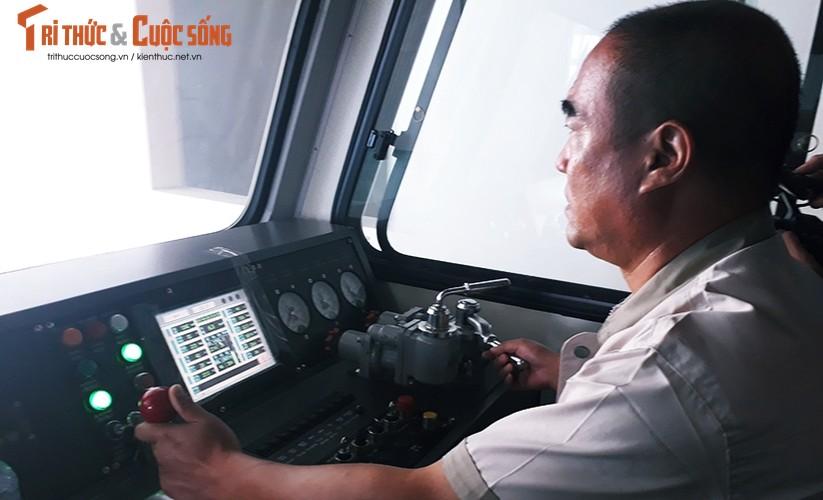 Chum anh: Dau may chay 5-20km/h tren tuyen duong sat Cat Linh-Ha Dong-Hinh-4